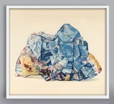 Blue Gem Art Print by LaurelCanyonDreaming on Etsy Affordable Art, Blue Gem, Gems, Art Prints, Handmade, Stuff To Buy, Bedroom, Medium, Art Impressions