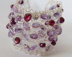 Ivory Pearl Cuff Bracelet Ivory Pearl Bridal by LavishGemstone