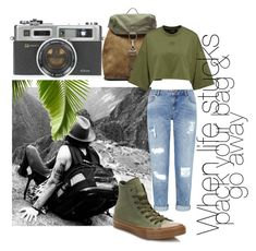 """""""go away"""" by sahrish-hossain ❤ liked on Polyvore featuring Miss Selfridge, Converse and Maison Margiela"""