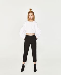 ZARA - WOMAN - CHINO TROUSERS WITH SIDE STRIPE