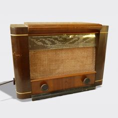 Poste radio ancien TSF années 40 Philips BF570A