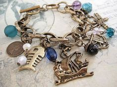Pirate's Treasure Hunt. a charm bracelet by Trinkets for Keeps