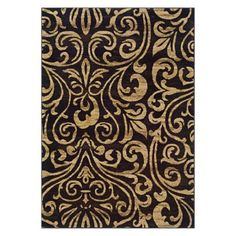 """Emerson Emily Area Rug - Beige/Black (5x7'6""""). Dining room?"""