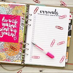 After receiving my A5 Filofax planner, I wanted to make it fit my needs. I created this insert to print and cut and insert into my planner.