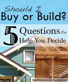 Trying to decide whether to build or buy? Five helpful things to ask yourself. Nc Real Estate, Real Estate Articles, Real Estate Business, Selling Real Estate, Real Estate Marketing, Home Buying Tips, Buying Your First Home, Buying And Selling Houses, Mortgage Tips