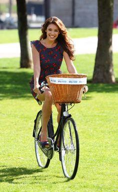 Kelly Brook bikes
