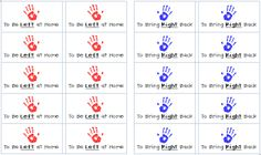 Back to School: stickers for left at home and bring right back for parent communication