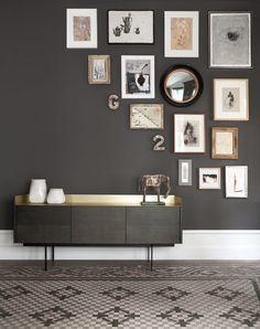 Коллаж из фотографий на стене, 20 примеров