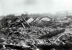 The Johnstown Flood occurred on May 31, 1889. It was the result of the failure of the South Fork Dam situated 14miles upstream of the town of Johnstown, Pennsylvania during a torrential rainstorm. The dam's failure unleashed 4.8 billion gallons of water on the city and killed over 2,200 people.