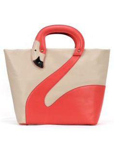 Colorblocked Swan Tote