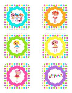 INSTANT Download - Lalaloopsy Cupcake toppers  Instant Download by partypassiondesign, $5.00