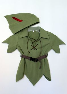 Adorable Toddler Peter Pan Costume-The New Version for Kids, available in size 5 to 8. This new version has a simple and different hemline with only 4 peaks. Handmade, with woven brown belt and black buckle. Front closure has 4-6 colored Dewit Eyletes that hold a suede leather tie strap. Fabric is soft and comfortable to wear in a medium weight of 70% Linen and 30% Rayon. I pay a lot of attention to detail with childs comfort in mind and make sure all seams (except armhole) are reversed and…