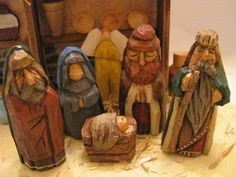 carved nativity sets | To really get inspired to finish this carving, I kept listening to ...