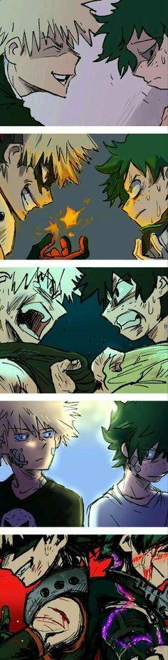 My Hero Academia // BNHA // Katsuki Bakugo / Kacchan / Quirk Explosion // Izuku Midoriya / Deku / Quirk One For All