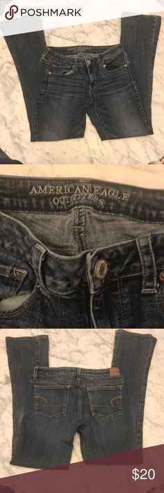 EUC American Eagle regular cut jeans Size 8 EUC American Eagle regular cut jeans Size 8. Great with heels or tennis shoes! American Eagle Outfitters Jeans