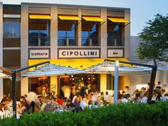 Cipollini is a popular spot for al fresco dining in nice weather, Italian restaurant, The Americana, Manhasset, Long Island, NY