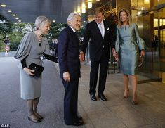 Trade: The three-day tour was intended to boost trade relations between Japan and the Netherlands. Pictured saying goodbye are Emporer Akihito and Empress Michiko with King Willem Alexander and Queen Maxima.