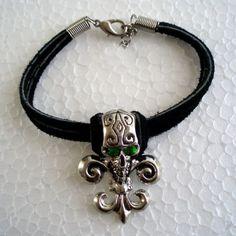 Slytherin/Death Eater skull bracelet.