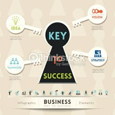 Vector Art : Key to Success in Business Illustration