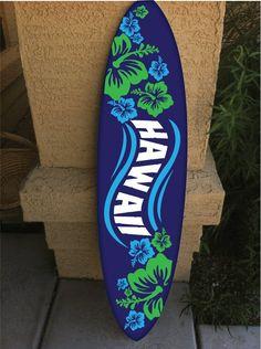 wall hanging surf board surfboard decor hawaiian by RadGraffix Surfboard Painting, Surfboard Decor, Surf Decor, Deco Surf, Orange Beach Alabama, Hawaiian Party Decorations, Hawaii Surf, Surfs Up, Killua