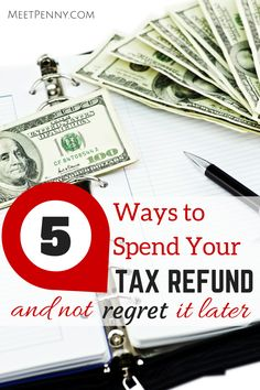 If you don't want to SAVE the tax refund, you can at least spend it wisely. Five great ideas for getting the thrill of shopping without having the guilt later.