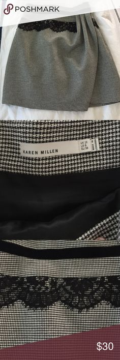 Karen Millen Skirt Perfect condition!! Never worn!! (No tags though). Beautiful with black tights and a black sweater top!! Karen Millen Skirts Mini