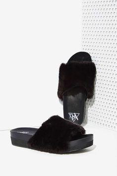 Real Fancy Women's Faux Fur Soft Leather Shoe