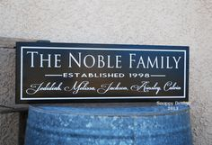 Established Personalized Family Name Sign