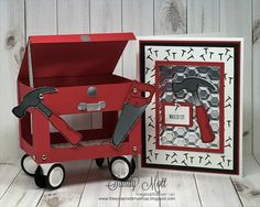 Nailed It - Creative Circle Design Team - created by Sandy Mott, The Scrap n Stamp Shop Boy Cards, Pop Up Cards, Cute Cards, Men's Cards, Greeting Cards, Stampin Up Karten, Stampin Up Cards, Masculine Birthday Cards, Masculine Cards