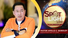SPOTLIGHT by Pastor Apollo C. Quiboloy • June 27, 2019 Spiritual Enlightenment, Spirituality, Hanging Planter Boxes, Cute Dog Wallpaper, Kingdom Of Heaven, Son Of God, Jerusalem, Phone Wallpapers, Apollo