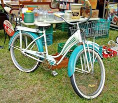 vintage bike...only thing missing are the tassles on the handle bars