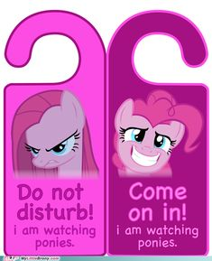 Either way, I'm watching ponies.
