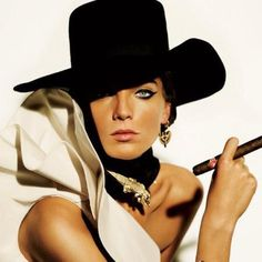 #Black hat and cigar  top women #2dayslook #new women #topsfashion  www.2dayslook.com