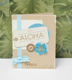 """Aloha"" card idea from #CTMH."