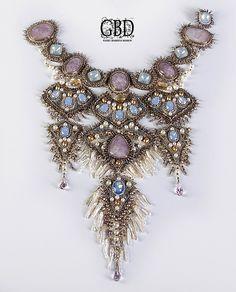Купить San Marco - венеция, колье, уссенгит, кристаллы сваровски (swarovski), Натуральный жемчуг