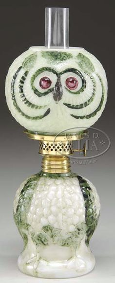 151 Best Owl Oil Lamps Images Vintage Lamps Owl Bird