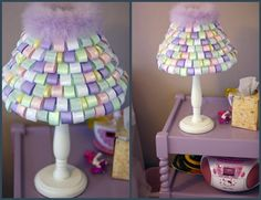 wouldn't this be cute in a little girls room???  Of course, I guess I could get creative with different ribbon in different rooms...