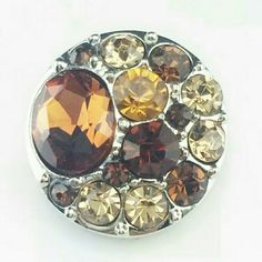 Gold Rhinestone Chunk Snap Button Charm NWOT 4 for $12~Add your favorites to a bundle and I will create a listing Jewelry