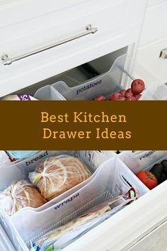 DIY Kitchen Drawer Ideas #drawer #kitchendesign Diy Kitchen, Kitchen Design, Home Organization, Organizing, Drawer Inspiration, Drawer Ideas, Drawer Design, House Hacks, Kitchen Drawers