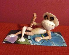 Three Wise Seashell Frogs by BCSeaShells on Etsy