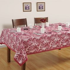 Shop for romantic rowan table covers &create a dreamy romantic candle light dinner setup for your loved one in the glory of these dining room table covers.