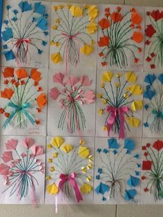 Pin by 光江 立石 on おりがみ Kids Crafts, Crafts To Make, Arts And Crafts, Spring Art, Spring Crafts, Paper Art, Paper Crafts, Mothers Day Crafts, Art Activities