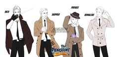 The Penguins of Madagascar Human ver. by MANGOKIM