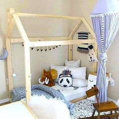 Children grow up so fast and we need to give them a bed at the right time to help him/her grow. Check out The 10 Best Toddler House Bed. Toddler Day Bed, Toddler Floor Bed, Toddler House Bed, House Beds For Kids, Kid Beds, House Frame Bed, Bed Frame, Boys Room Decor, Kids Bedroom