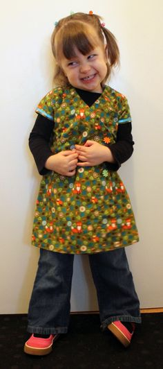 Pixel in a short-sleeved version of the Kimono Tunic.