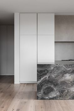 In designing the Malvern Apartments, architect Paul Conrad was inspired by the grand scale of the project's surrounds, creating luxurious, modern apartments that complement the lifestyle and architecture of Melbourne's inner south-east. #moderninteriors #timberdesign #custombuild #architecturelovers #dreamhouse #housegoals Kitchen Interior, Modern Interior, Interior Architecture, Light Oak Floors, Melbourne Suburbs, Marble Island, Apartment Complexes, Outdoor Landscaping, House Goals