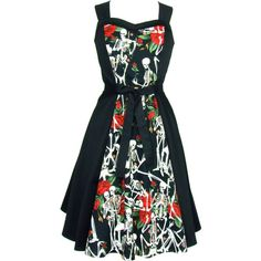 Skulls and Roses Dress Full Circle Dress ($70) ❤ liked on Polyvore featuring dresses, grey, women's clothing, circle skirt, skater skirt, grey skater skirt, gray evening dress and evening dresses