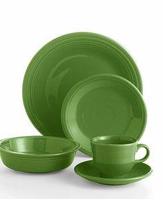 Need 2 sets Shamrock, 2 sets white:  Fiesta Dinnerware, 5 Piece Place Setting - Casual Dinnerware - Dining & Entertaining - Macy's