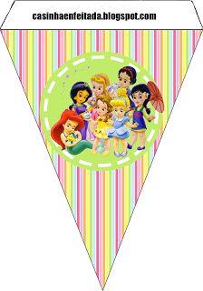 Kit Festa Princesas Baby Para Imprimir Grátis banner Disney Princess free