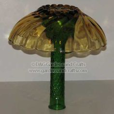 Glass garden decoration mushrooms
